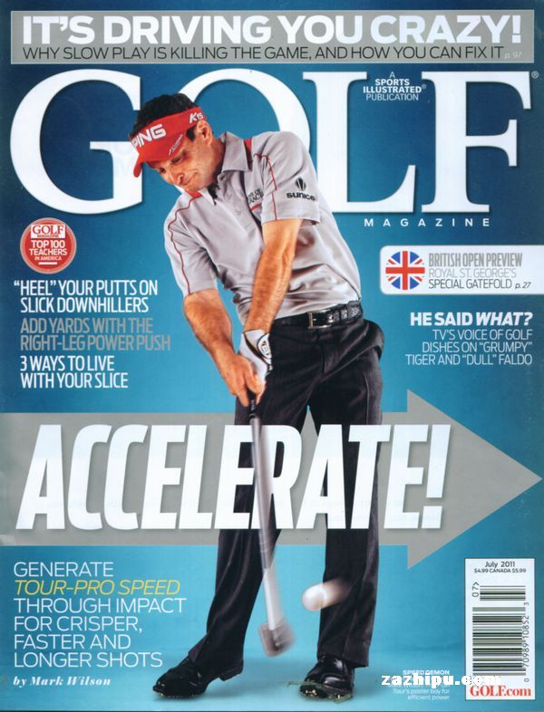 golf magazine高尔夫球杂志(美国)2011年7月期