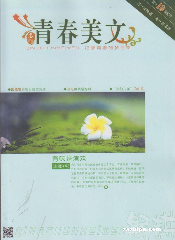 青春美文杂志封面 青春美文2013年10月期-青春美文