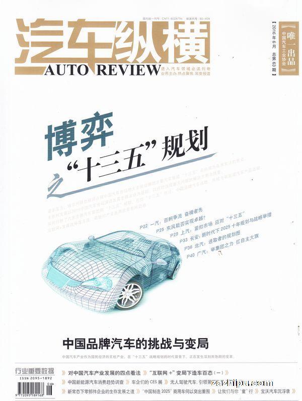 中国品牌稳步成长,新能源汽车产业初具规模.