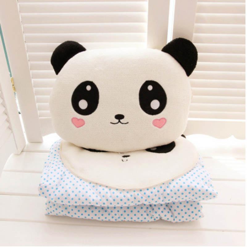 可爱熊猫抱枕空调被【积分商城】杂志订阅