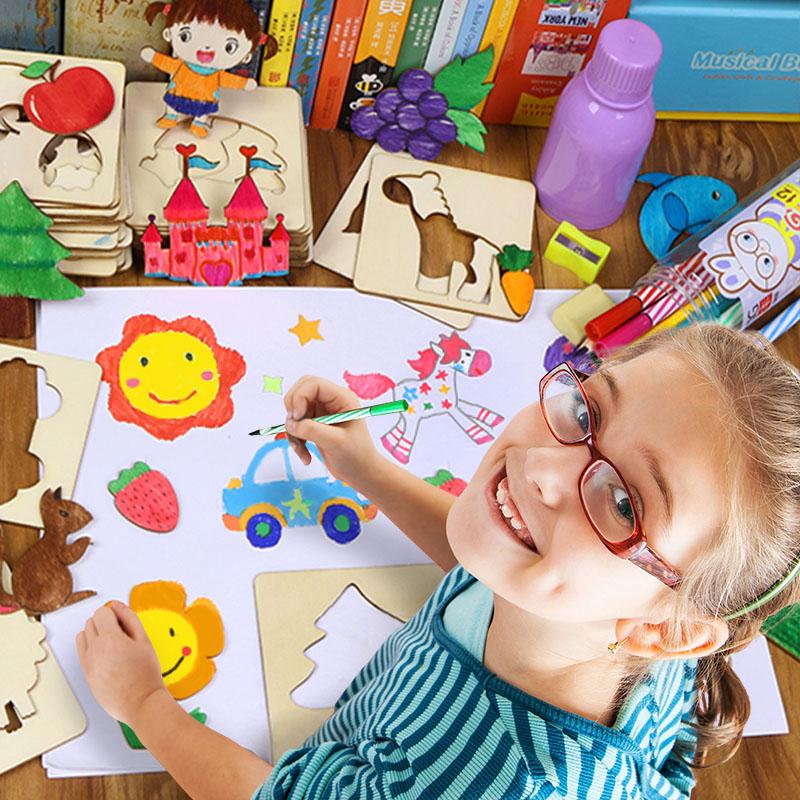 儿童填色涂鸦绘画模板套装封面